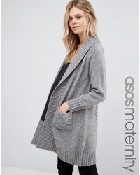 Asos Maternity Coatigan With Ribbed Back