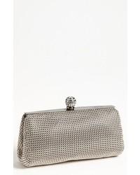 Crystal mesh clutch grey medium 619024