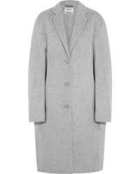 Acne Studios Avalon Doubl Oversized Wool And Cashmere Blend Coat Light Gray