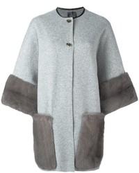 Agnona Contrast Detail Coat