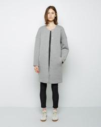 Alexander Wang T By Cotton Neoprene Collarless Coat