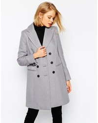 Asos Collection Coat In Longline Twill