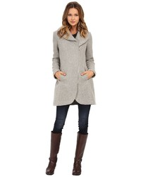 Jessica Simpson Asymmetrical Braided Wool Coat With Shawl Collar Coat