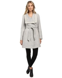 Jessica Simpson Basketweave Wrap Coat