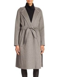 Vince Belted Stretch Wool Coat
