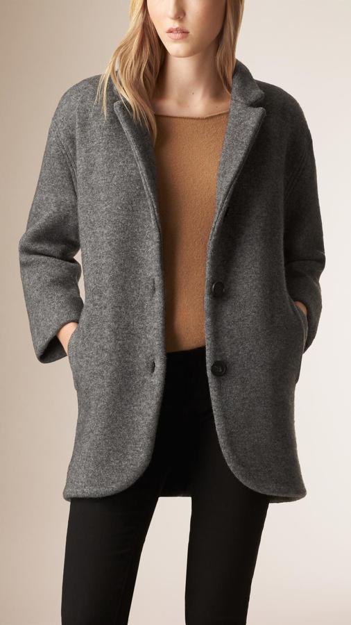 Burberry Bonded Wool Blend Cardigan Coat | Where to buy & how to wear