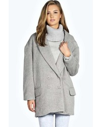 Boohoo Imogen Oversized Brushed Wool Mix Coat