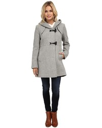 Jessica Simpson Braided Wool Duffle Coat With Hood Coat