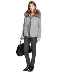 Brooks Brothers Angora Wool Short Coat