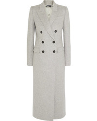 Alexander McQueen Brushed Wool Coat Gray