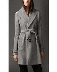Burberry Cashmere Belted Wrap Coat