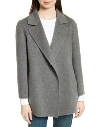 Theory Clairene New Divide Wool Cashmere Open Front Topper