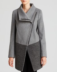 Calvin Klein Coat Asymmetric Zip Mixed Media