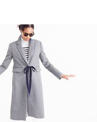J.Crew Collection Olivia Topcoat With Grosgrain Ribbon