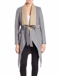 BCBGMAXAZRIA Colorblocked Topper Coat