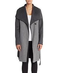 Vera Wang Diane Two Tone Wool Coat