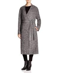 DKNY Pure Heathered Wool Wrap Coat