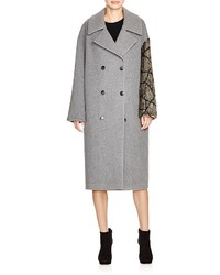 DKNY Sequined Sleeve Coat