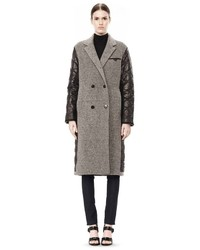 Alexander Wang Donegal Nylon Quilted Combo Reversible Coat