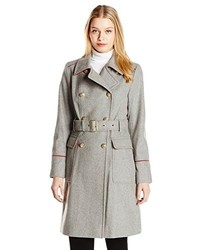 Vince Camuto Double Breasted Wool Blend Trench Coat