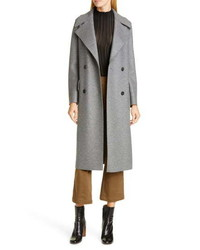 Harris Wharf London Double Breasted Wool Military Coat