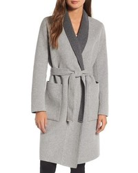 Soia & Kyo Double Face Wool Blend Long Wrap Coat