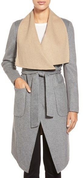 BCBGMAXAZRIA Double Face Wool Blend Wrap Coat | Where to buy & how ...