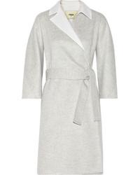 Fendi Two Tone Felted Cashmere Coat