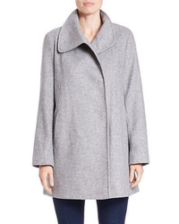 Larry Levine Fold Over Collar Coat