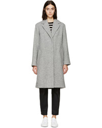 Rag & Bone Grey Alpaca Ray Coat