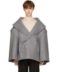 Jacquemus Grey Le Caban Short Coat