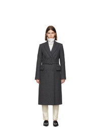 Helmut Lang Grey Wool Double Breasted Coat