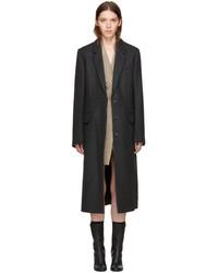 Stella McCartney Grey Wool Harper Coat