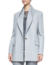 Halston Heritage Draped Collar 1 Button Coat