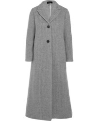 Isabel Marant Duard Alpaca And Wool Blend Coat Gray