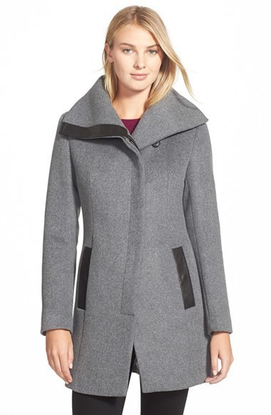 Soia & Kyo Jana Asymmetrical Wool Blend Coat