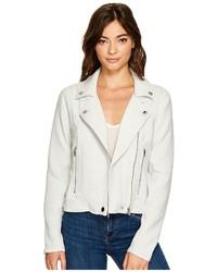 Blank NYC Light Grey Jersey Moto Jacket In Jaw Breaker Coat