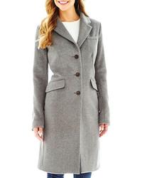 Liz Claiborne Wool Blend Chesterfield Coat