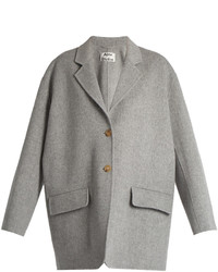 Acne Studios Lupi Doubl Wool Blend Coat