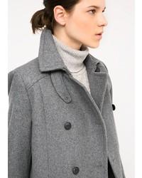 Mango Wool Blend Convertible Coat