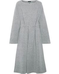 The Row Mani Merino Wool Blend Felt Coat Gray