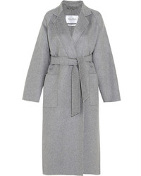 Max Mara Marlo Belted Cashmere Coat Gray