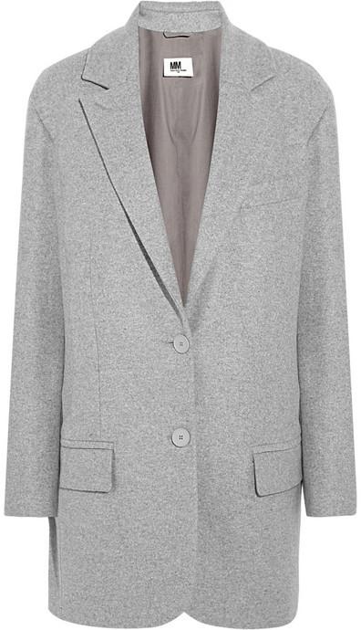 ... Maison Martin Margiela Mm6 Wool Blend Felt Coat ...