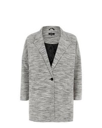 New Look Inspire Monochrome Single Button Boyfriend Coat