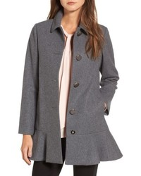 Kate Spade New York Drop Waist Wool Blend Flounce Coat