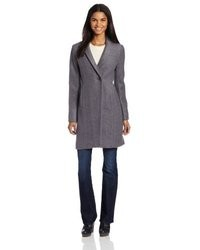 Kenneth Cole New York Wool Boucle Coat