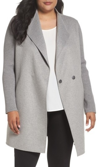 4c268e8105a ... Kenneth Cole New York Plus Size Double Face Coat ...