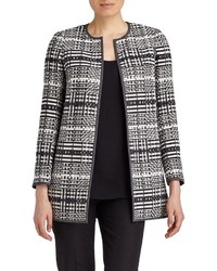 Lafayette 148 New York Pria Woven Pattern Coat