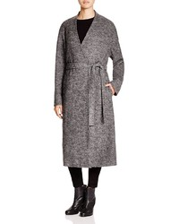 DKNY Pure Heathered Wool Wrap Coat