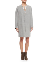 Rag and Bone Rag Bone Singer Bemberg Cupro Coat Light Gray